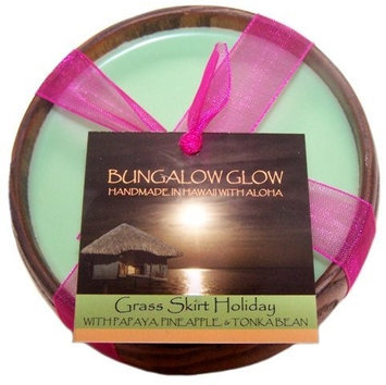 Bubble Shack Hawaii 689076054089 Grass Skirt Holiday Poi Bowl Candles - Pack of