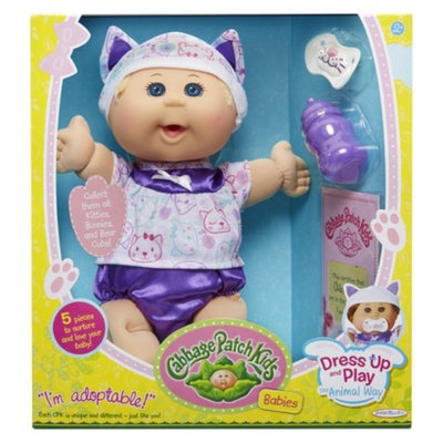 Cabbage Patch Kids 12.5 Dress Up and Play Baby Blond Hair, Blue Eyes,