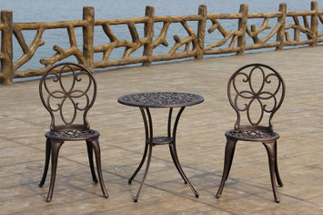 Fire Sense Antique Bronze Cast Aluminum 3pc. Bistro Set