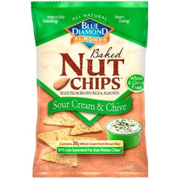 Blue Diamond Nut Chips, Sour Cream and Chive, 4.25-Ounce (Pack of 6)