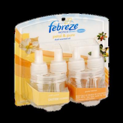 Febreze Noticeables Petal & Pure Dual Pack Refill Oils