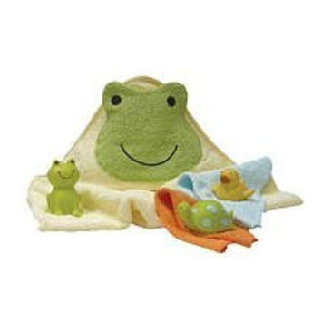 Lambs & Ivy Bath To Go Gift Set, Ribbit Ribbit (Discontinued by Manufacturer)