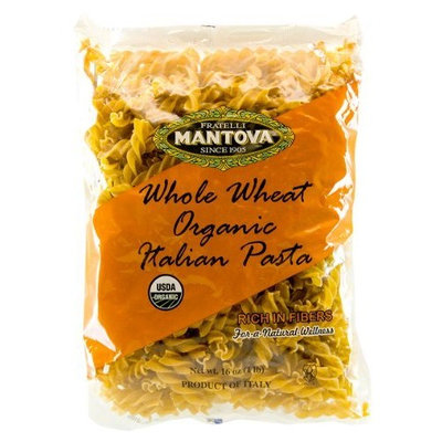Mantova Italian Organic Whole Wheat Pasta, Fusilli, 1-Pound Bags (Pack of 12)
