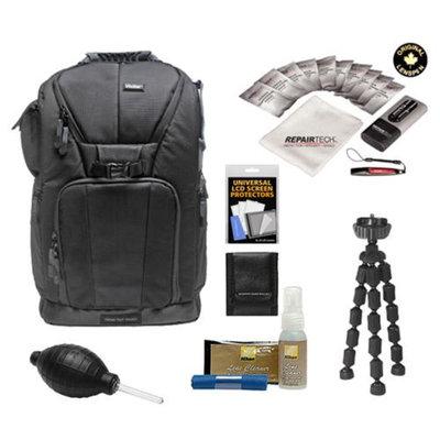 Vivitar Series One Digital SLR Camera/Laptop Sling Backpack - Medium (Black) Holds Most 15.4'
