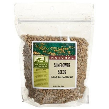 Woodstock Farms Sunflower Seeds, Hulled,Roasted, No Salt, 16-Ounce Pouches (Pack of 8)