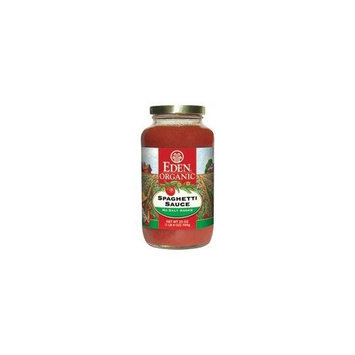 Eden Foods Organic Spaghetti Sauce, No Salt Added 25 oz. (Pack of 12)
