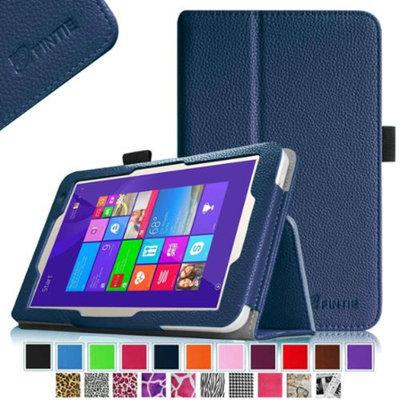 Fintie Folio Premium Leather Case Cover For Toshiba Encore 2 WT8-B32CN / B64CN 8.0-inch Windows 8.1 Tablet, Navy