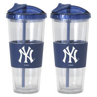Boelter Brands MLB Yankees Set of 2 No Spill Straw Tumbler - 22oz