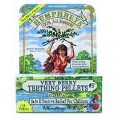 Humphreys Pharmacal TEETHING VERY BERRY #3 EA 1/135PELLT [Health and Beauty]
