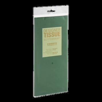 Designer Greetings Tissue Glitterwrap Hunter Green - 8 Sheets