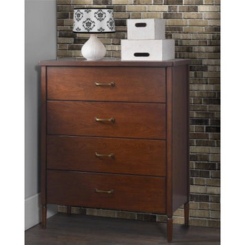 Dorel Asia Dorel Living Brook Lane Walnut 4-Drawer Chest
