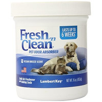 Lambert Kay Fresh 'N Clean Pet Odor Absorber, Ocean Breeze Scent, 16-Ounce