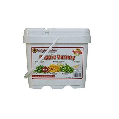 SurvivalCaveFood SCFVEG50 Veggie Variety bucket, 50 svg