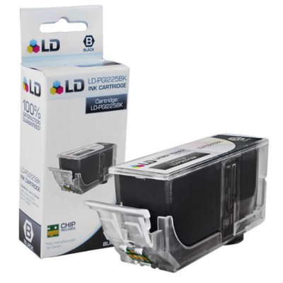 LD Canon PGI-225 Pigment Black Compatible Inkjet Cartridge W/ Chip for PIXMA iP4820, iP4920, iX6520, MG5120, MG5220, MG6120, MG6220, MG8120. MG8120B, MG8220, MX712, MX882, and MX892 Printers