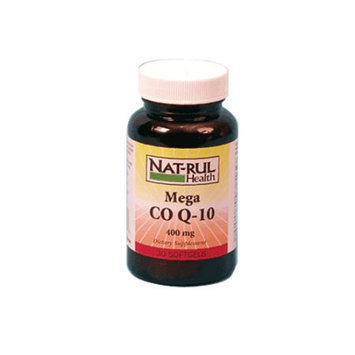 Natrul Health Mega Co-Enzyme Q-10 400 Mg Soft Gels - 30 Ea