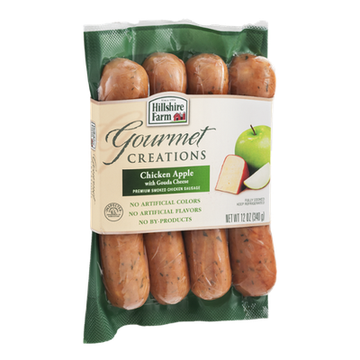 Hillshire Farm Gourmet Creations Smoked Chicken Sausage Chicken Apple with Gouda Cheese