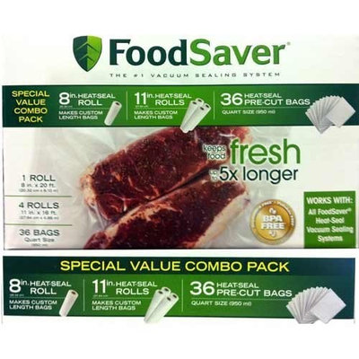 FoodSaver Special Value Vacuum Seal Combo Pack 1-8