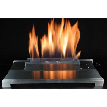 American Fireglass 24 Double Face Black finish Natural Gas Burner with On/Off Control