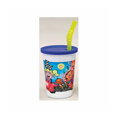 WNA Comet Plastic Kids' Cup with Lids and Straws