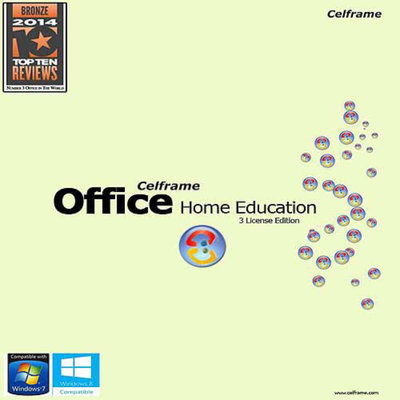 CELFRAME Celframe COH1ENRA1 Office Home and Education Software, 3 Users (PC) (Digital Code)
