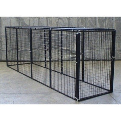 Options Plus Bronze Series 8x8x6 foot Kennel with Top Panels