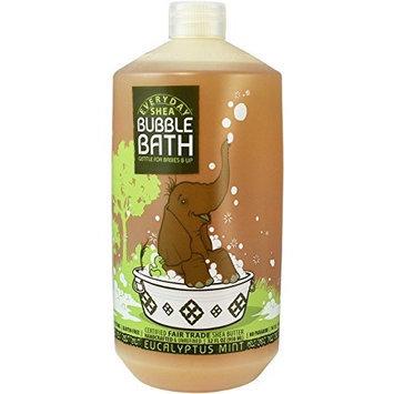 Alaffia EveryDay Shea Shea Bubble Bath, Comforting Eucalyptus Mint, 32 oz (FFP)