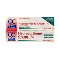 Quality Choice Maximum Strength Hydrocortisone Cream 1% 1 Ounce (28g) , Boxes (Pack of 6)