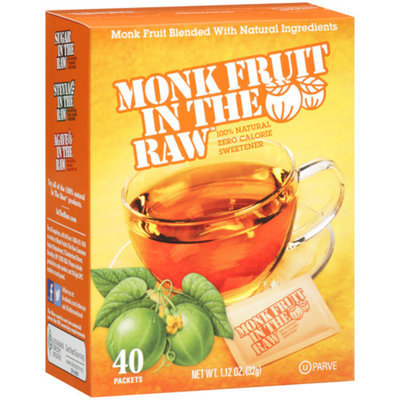 Cumberland Packing MONK FRUIT IN THE RAW 40 PACKETS 1.12OZ
