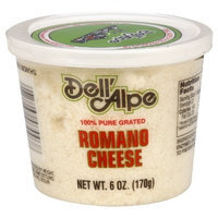 Dell' Alpe Romano Grated Dried Cheese, 6-Ounce (Pack of 6)