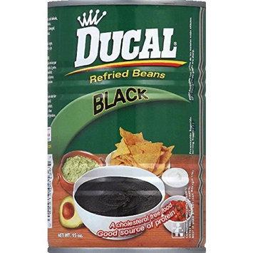 Ducal, Bean Refried Black, 15 OZ (Pack of 24)