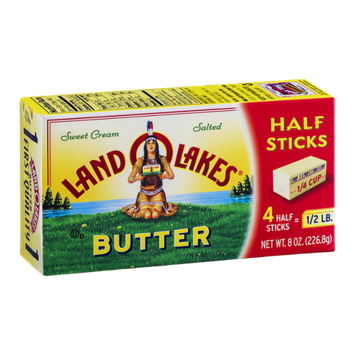 Land O'Lakes Butter Sweet Cream Salted Half Sticks - 4 CT
