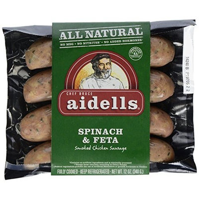 Aidells Spinach & Feta Sausage, 12-ounce