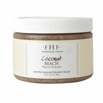 FarmHouse Fresh Coconut Beach Shea Sugar Body Scrub, 13.6 fl oz