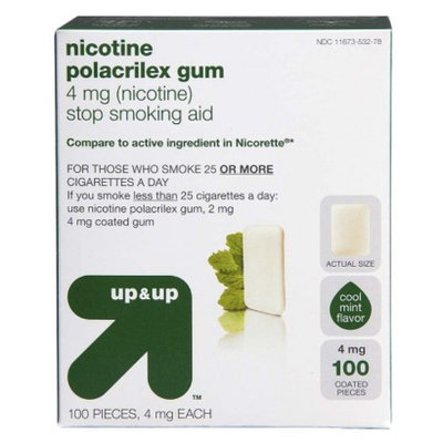 Up & Up Nicotine Polacrilex 4-mg. Gum - Cool Mint (100-pk.)