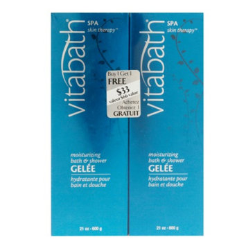 Vitabath Moisturizing Bath & Shower Gelee Buy One, Get One Free Bonus Pack, Spa Skin Therapy, 1 ea