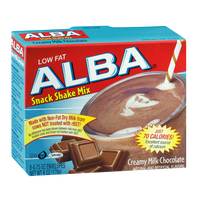 Alba Low Fat Snack Shake Mix Envelopes Creamy Milk Chocolate
