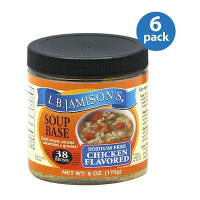 LB Jamison L.B. Jamison's Sodium Free Chicken Flavored Soup Base