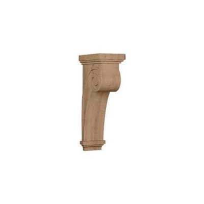 Ekena Millwork 6.25-in x 22-in Alder Scroll Wood Corbel