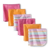 Circo Newborn Girls' 6 Pack Washcloth Set - Pink/Orange