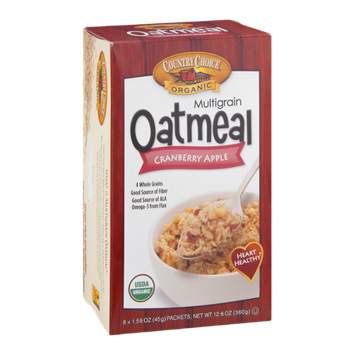 Country Choice Organic Multigrain Oatmeal Cranberry Apple - 8 CT