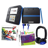 Current's Tackle Nintendo 2DS Blue Mariokart 7 Bundle with Silly Bandz & Accessories