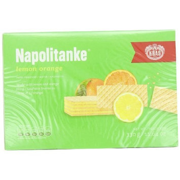 Kras Napolitanke Lemon-Orange (Lemon-Orange Wafers), 11.64-Ounce Packages (Pack of 12), (330 Grams)