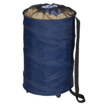 Household Essentials Rolling Pop-Up Hamper/Storage Can - Blue