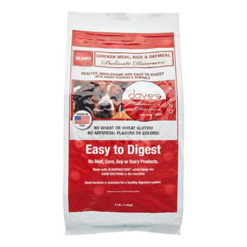 Dave's Pet Food Daves Delicate Dinners Chicken and Rice Formula Dog Food 4lbs
