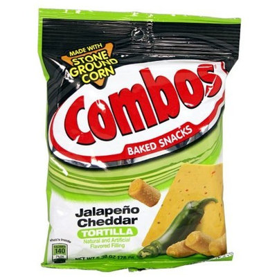 Combos Jalapeno Cheddar Tortilla, 6.3 oz. (Pack of 12)