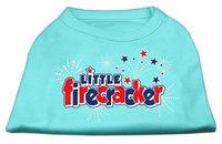 Mirage Pet Products 511706 SMAQ Little Firecracker Screen Print Shirts Aqua S 10
