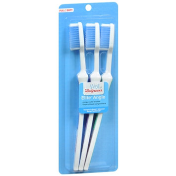 Walgreens Elite Angle Toothbrushes, Full, 3 ea