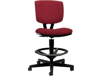 Hon Volt Series Adjustable Task Stool, Crimson Fabric