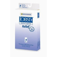 Jobst Relief 30-40 mmHg Closed Toe Thigh High Support Sock with Silicone Top Band Size: X-Large, Color: Black