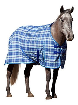 Kensington Stable Sheet 75In Blue Plaid